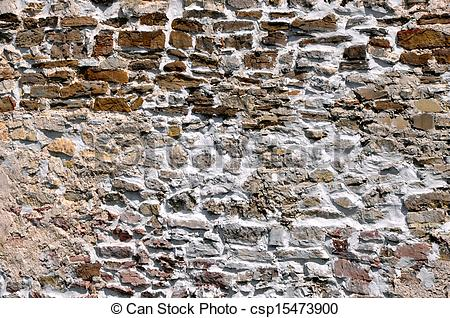 Stock Photography of Old stone wall background texture.