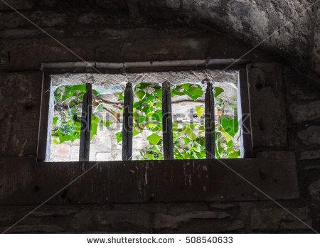 Window Ancient Prison Banque d'Image Libre de Droit, Photos.