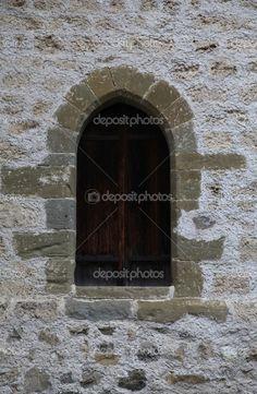 old stone window.