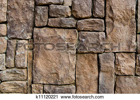 Stock Photography of Pattern of old stone Wall k11120221.