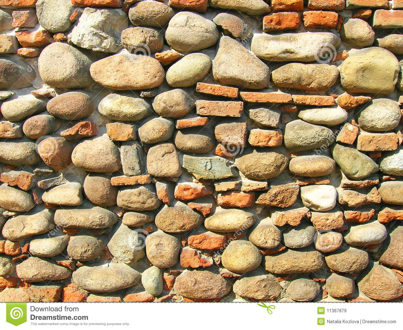 Old Stone Wall Of The Castle Royalty Free Stock Images.