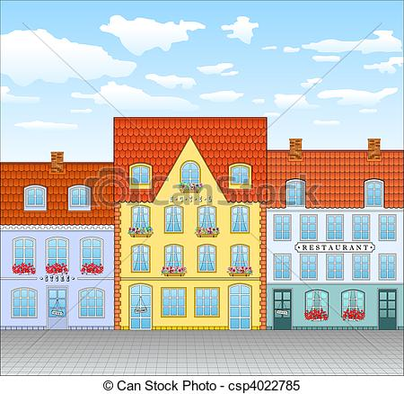 Town house street Illustrations and Clipart. 13,511 Town house.