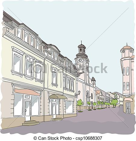 Old Town Clipart.