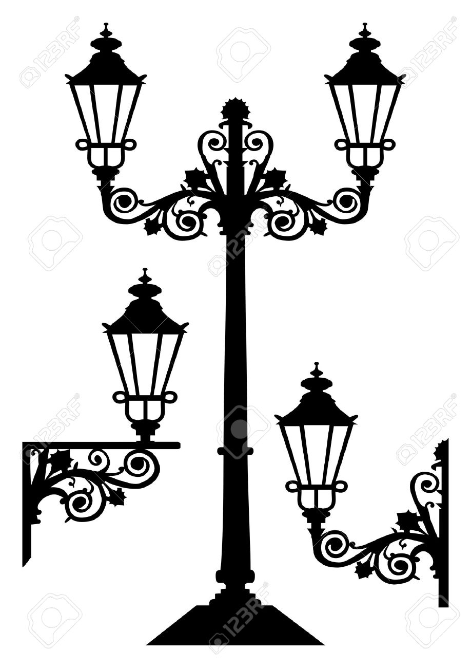 Antique Vector Street Lights Royalty Free Cliparts, Vectors, And.