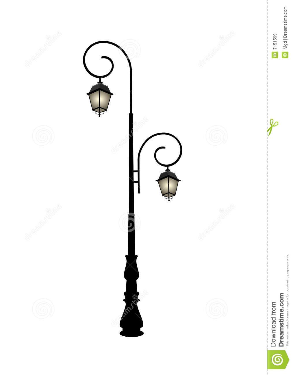 Antique Street Lamp Clipart.