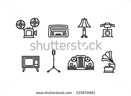"Tibor Novak's ""Old stuff icons"" set on Shutterstock."