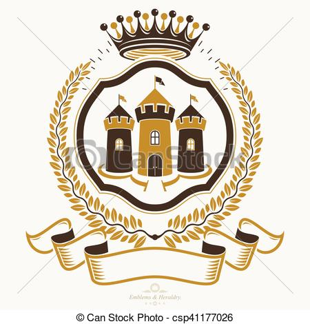 Vector Illustration of Old style heraldry, heraldic emblem, vector.