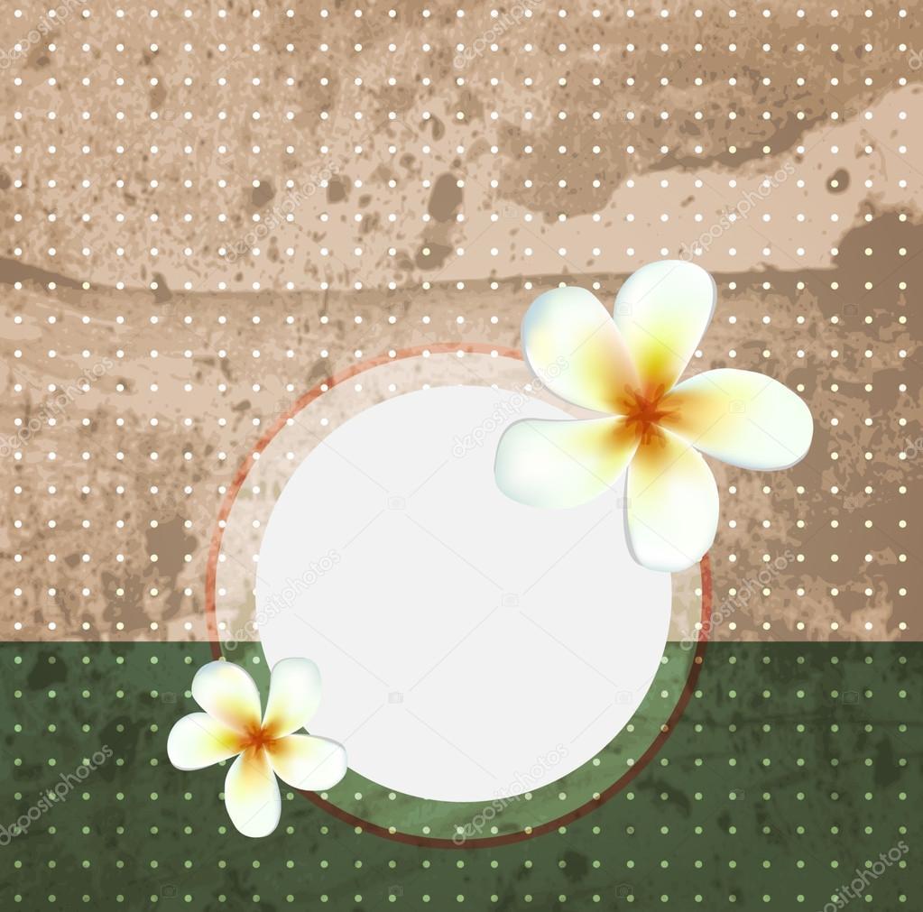 Vintage old style scrapbook paper. Vector flowers background.