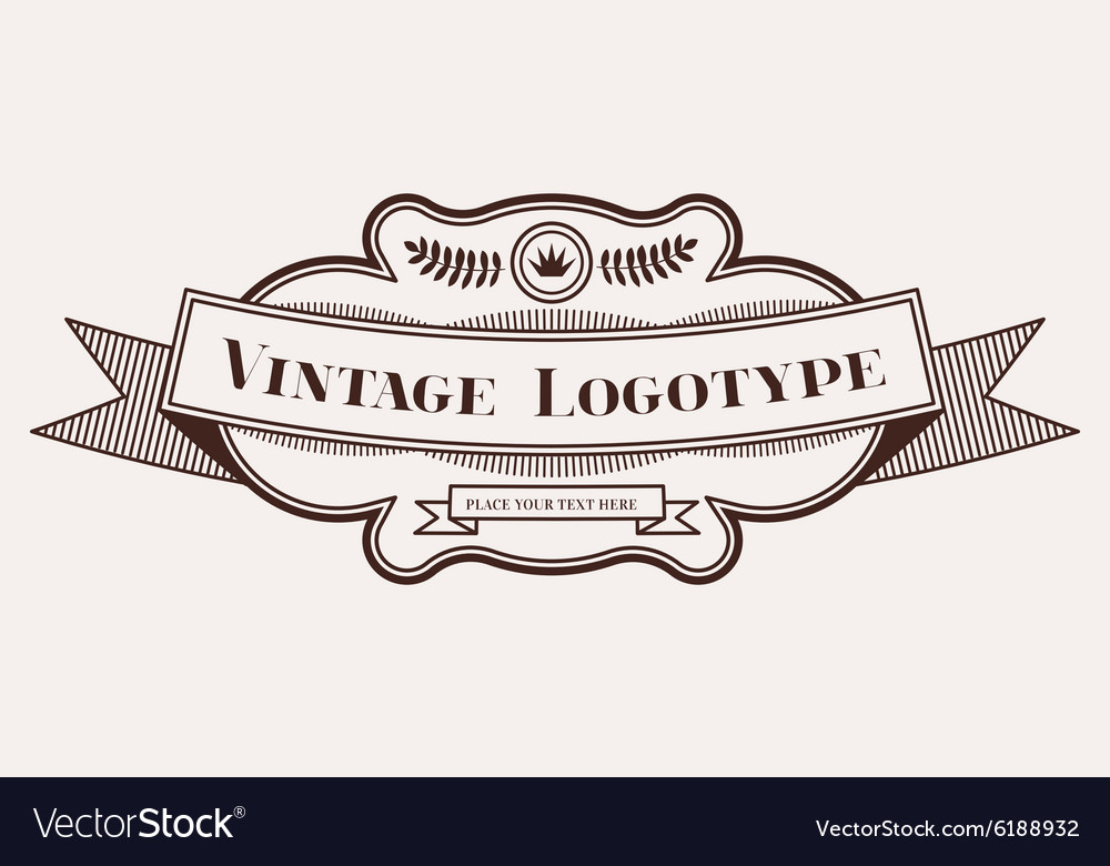 Vintage old style logo icon template.