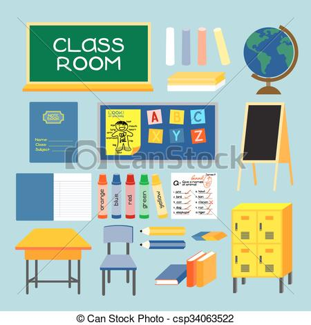 Vector Illustration of CLASS ROOM.