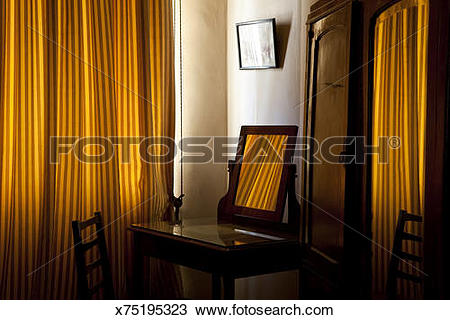Stock Photo of Old Style Bedroom, Cairo, Egypt x75195323.