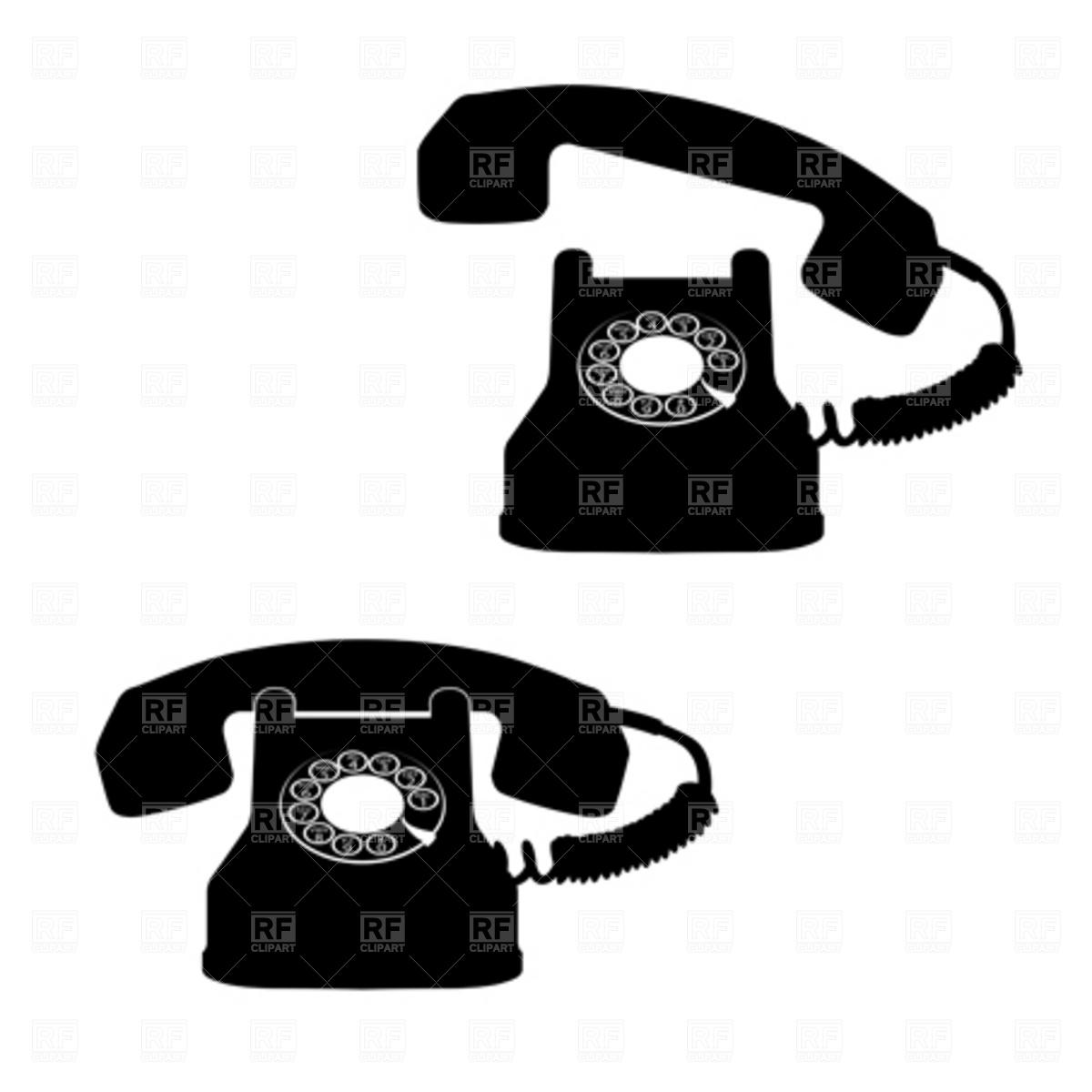 Retro Telephone Clipart.