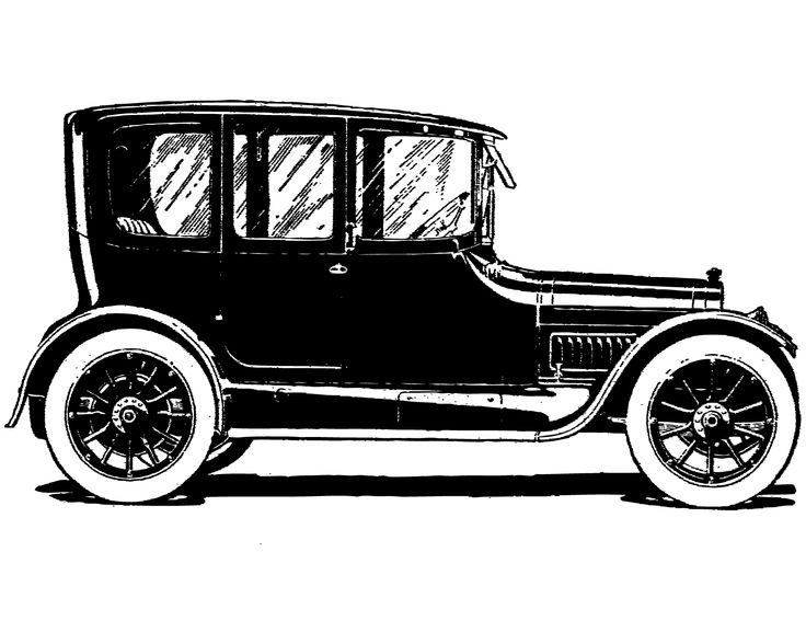 Free vintage clip art image: Vintage cars and coaches clip.
