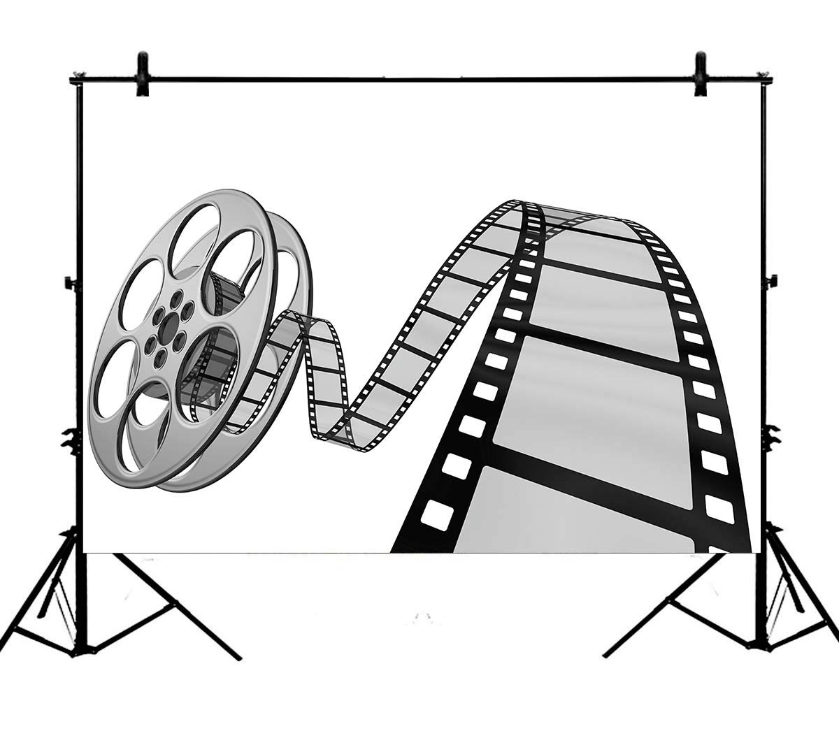 Amazon.com : 7x5ft Old Time Movie Camera Clip Art Movie Reel.