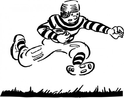 Old Time Football Player clip art.