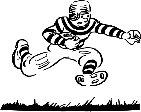 Old Time Football Player clip art Free Vector / 4Vector.