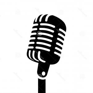 Retro And Modern Microphones Vector Clipart.