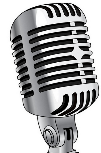 Microphone old fashioned mic clipart.