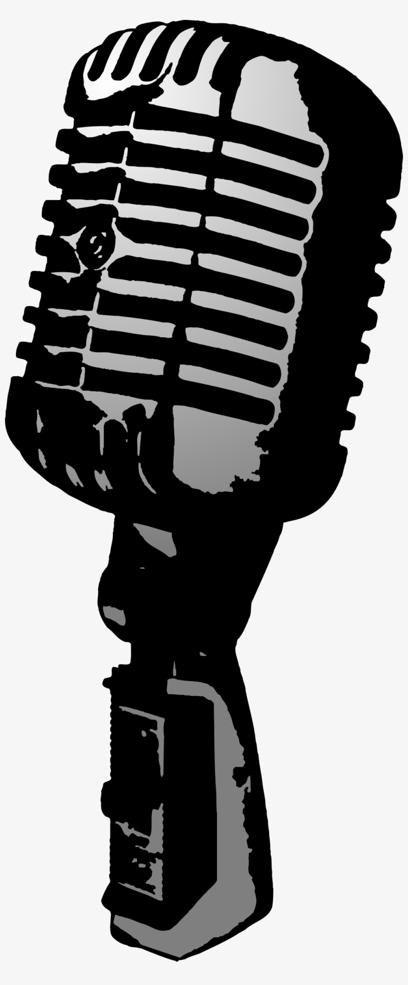 Old Time Microphone Png.