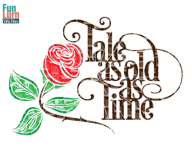 Tale as old as time svg.