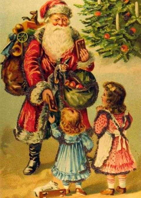 Old Time Christmas Clipart.