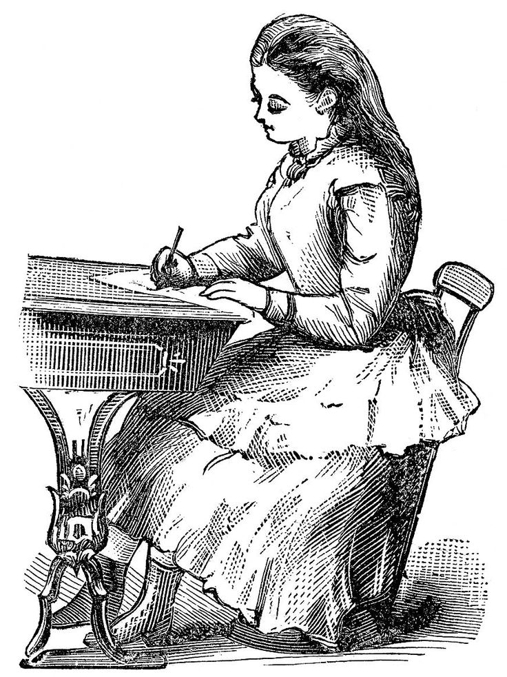 Victorian back to school clipart.