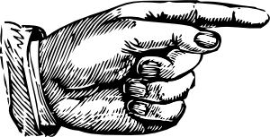 Old Timey hand clip art.