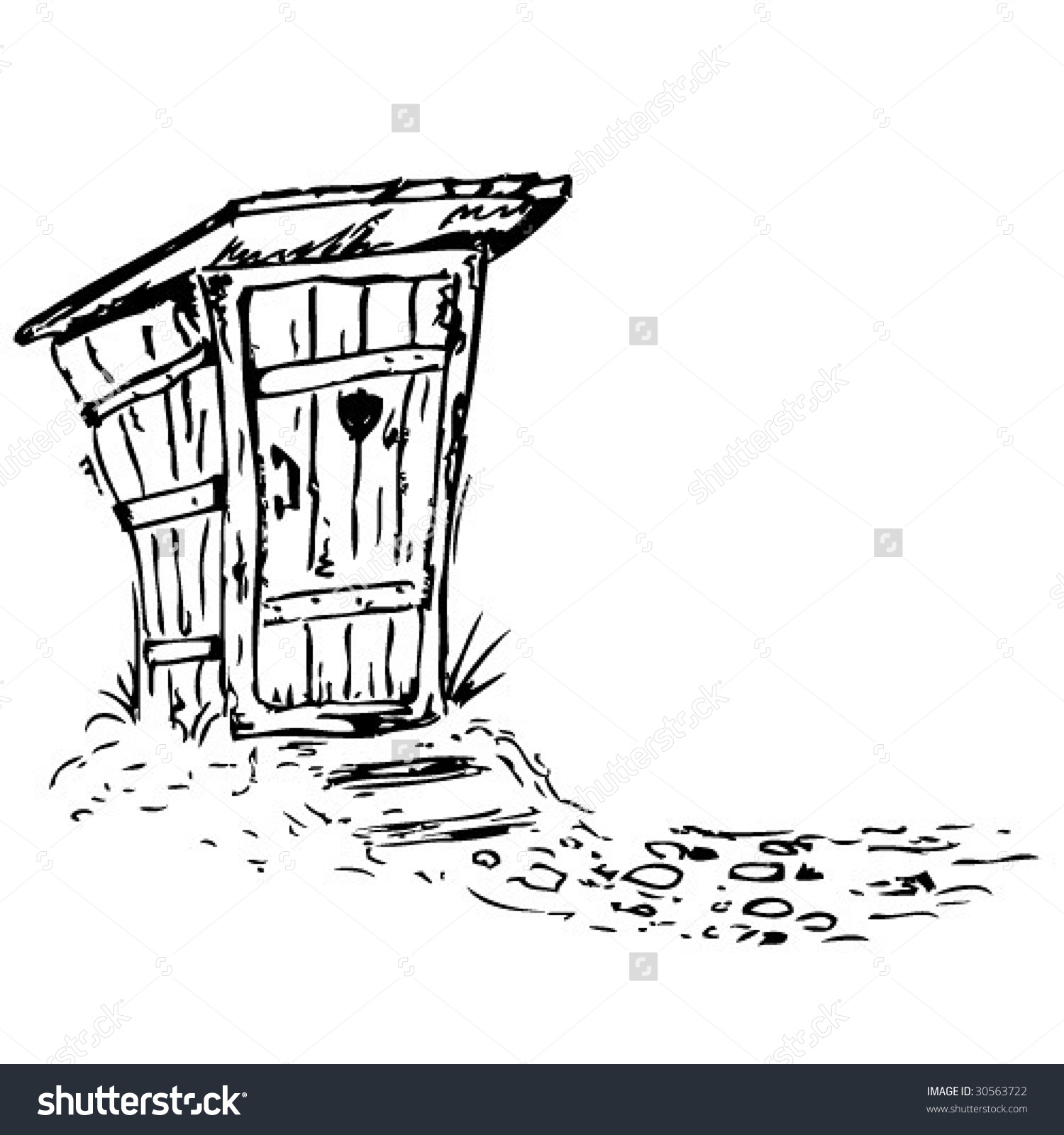 Old Toiletvector Stock Vector 30563722.