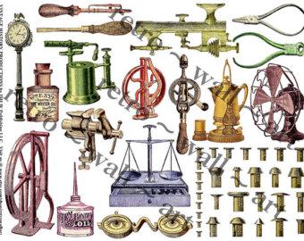 Steampunk clip art.