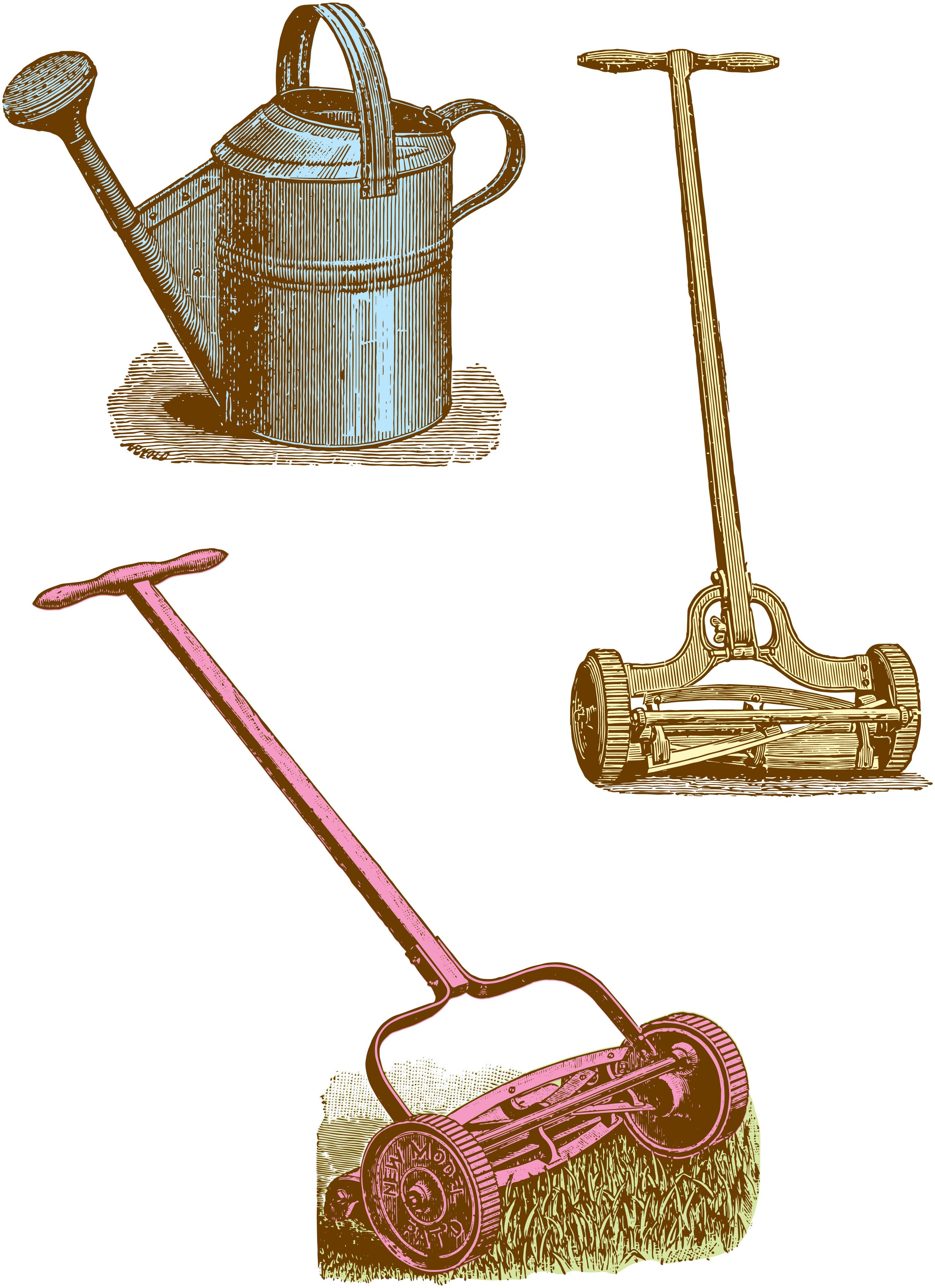 Vintage Clipart Garden / Yard Tools.