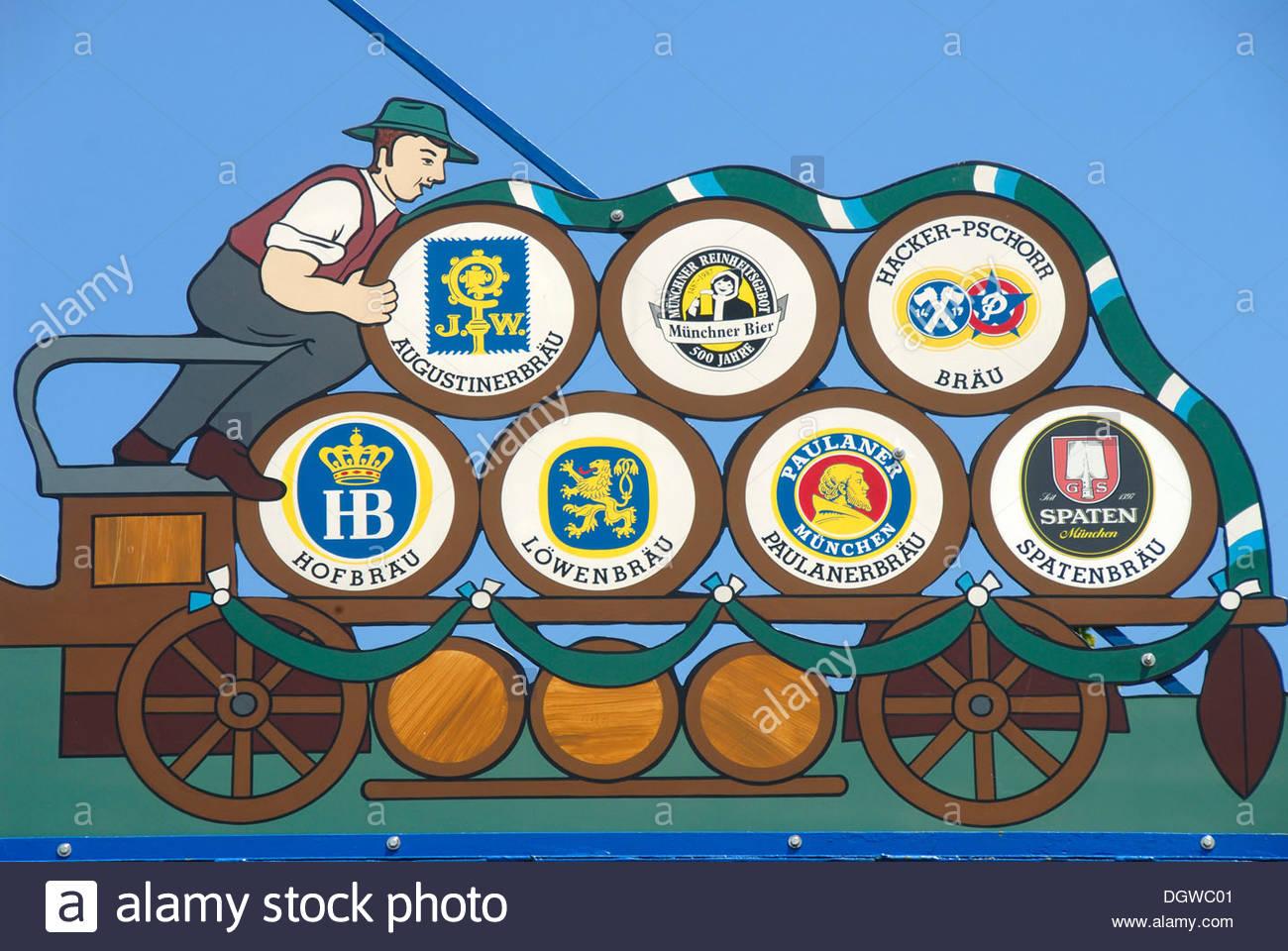 Depiction On The Maypole On The Viktualienmarkt Food Market.