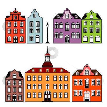 Houses stock vector.