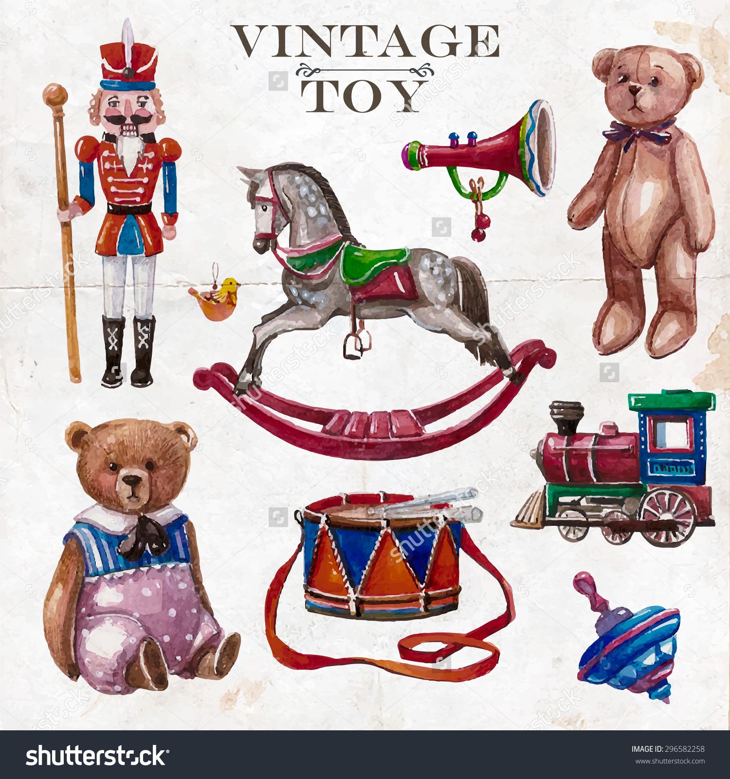 Toys Clip Art Paper.
