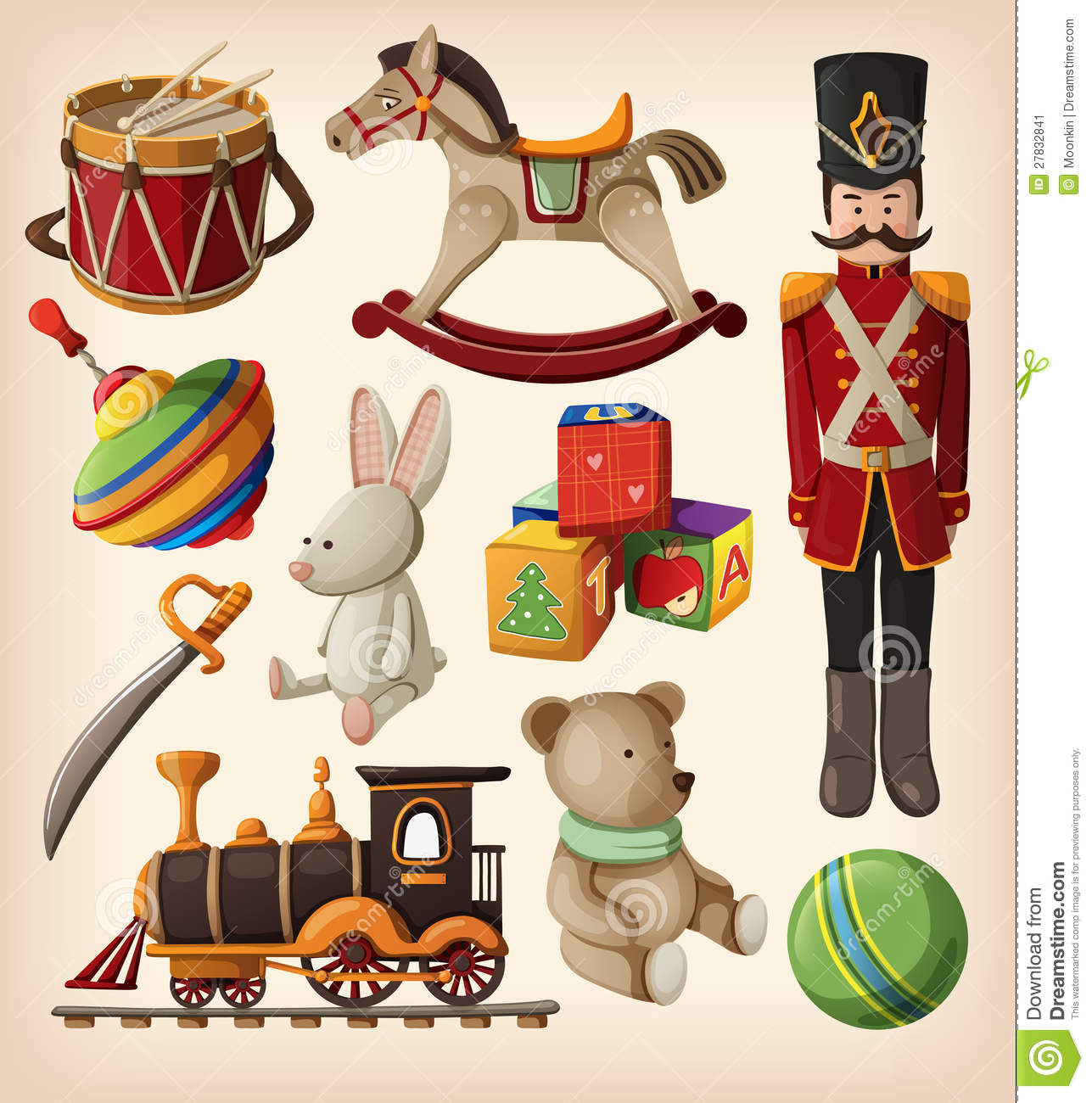Old Toys Clipart.