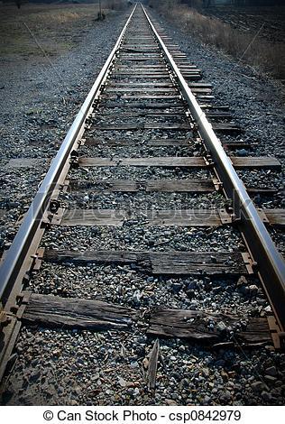 Stock Photographs of Railroad Tracks.