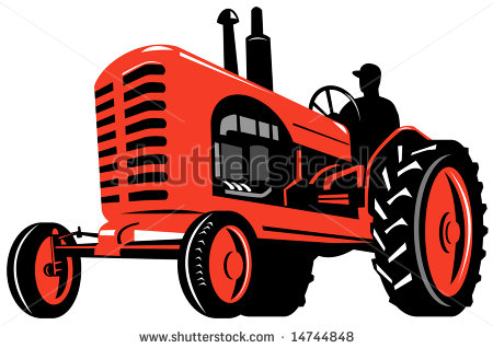 Vintage Red Tractor.