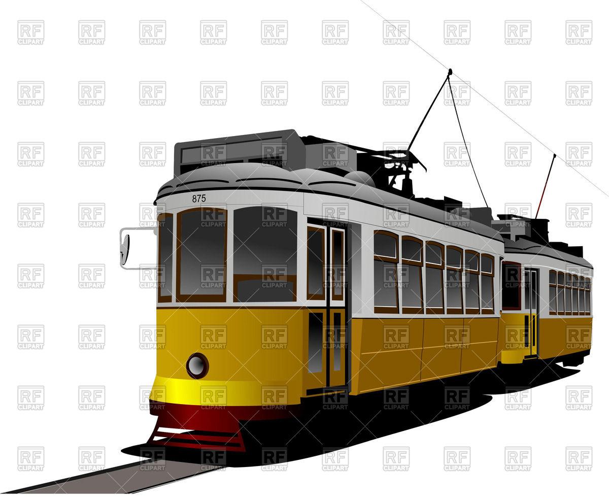 Old Tram Clip Art.