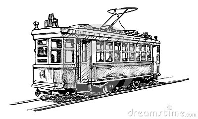 Streetcar Stock Illustrations.
