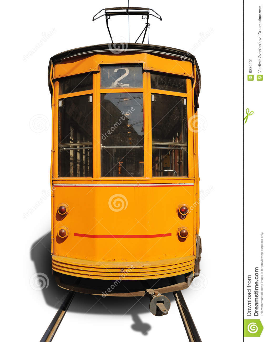 Old Tram Stock Image.