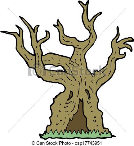 Old Tree Clip Art.