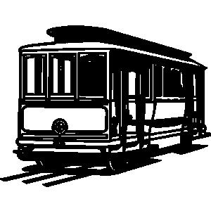 San Francisco Trolley Clip Art.
