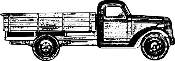 Old Style Truck clip art Free vector in Open office drawing.