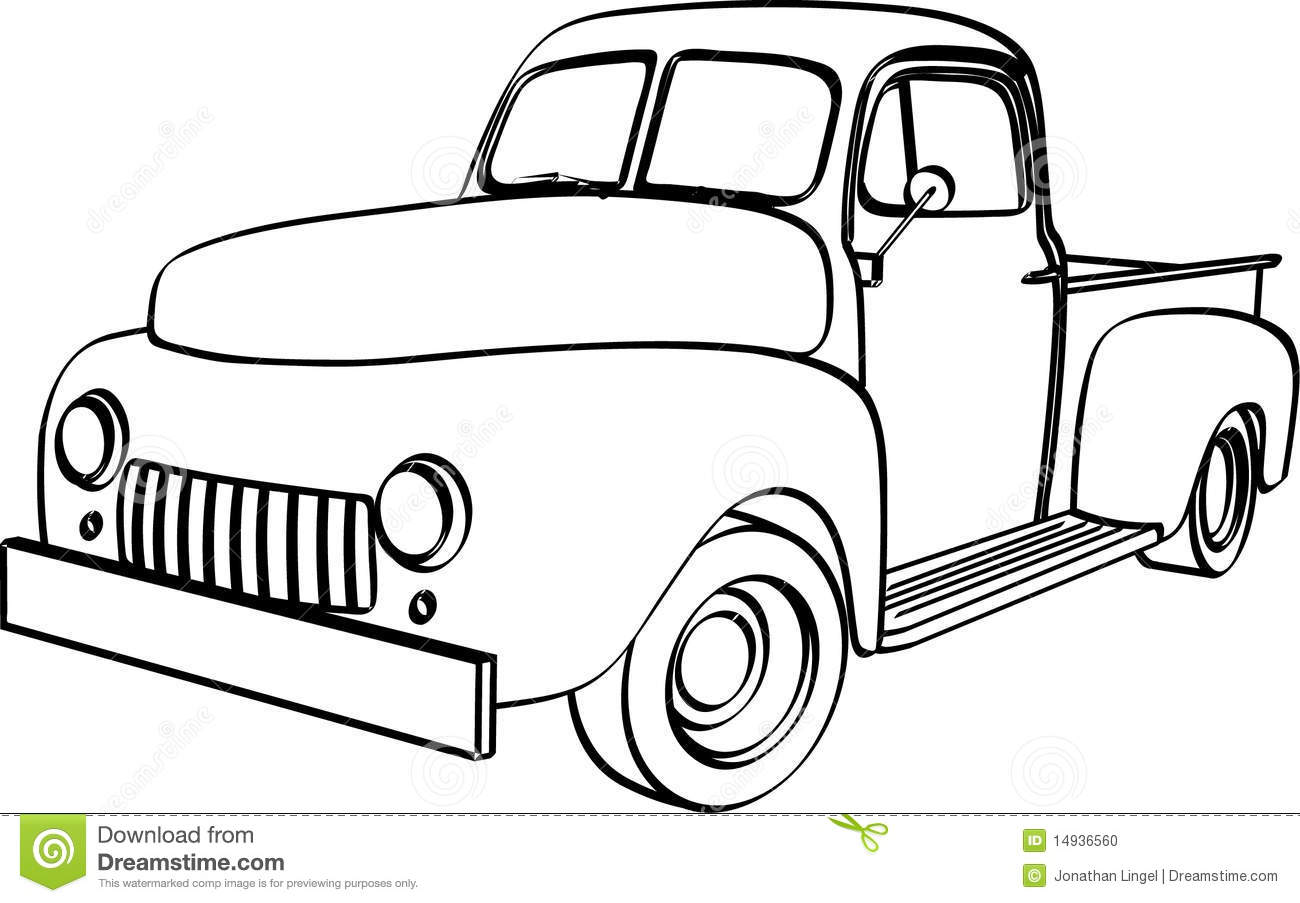 old truck clipart
