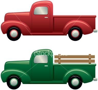 Old ford truck clipart.