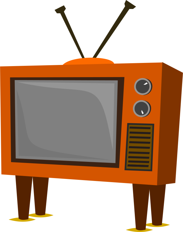 Free Clipart: Funky Old TV.