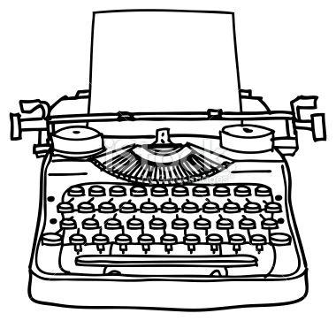 Old Typewriter Clip Art.