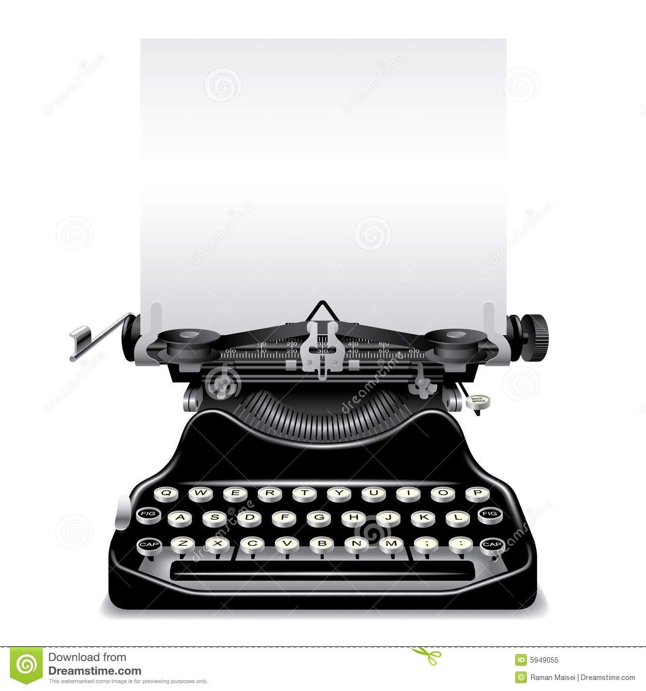 Typewriter Stock Illustrations.