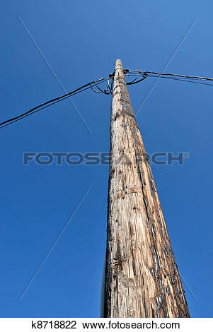 Stock Photo of Old Utility Pole k8718822.