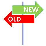 Old Way Versus New Way Stock Illustrations.
