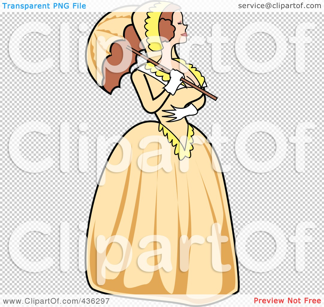 Old Victorian Woman Cartoon Clipart.